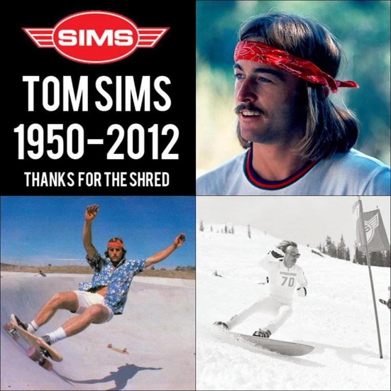 El pasado miércoles 12 de Septiembre un ataque al corazón se llevo a uno de los grandes,  fundador de las empresas Sims Snowboards y Sims Skates.