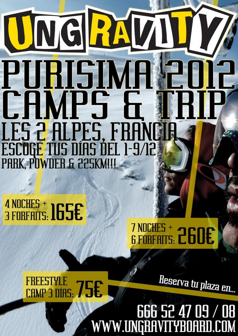 La Escuela de Freeski & Snowboard Ungravity presenta la 3a edición de los PURISIMA CAMPS & TRIP en
