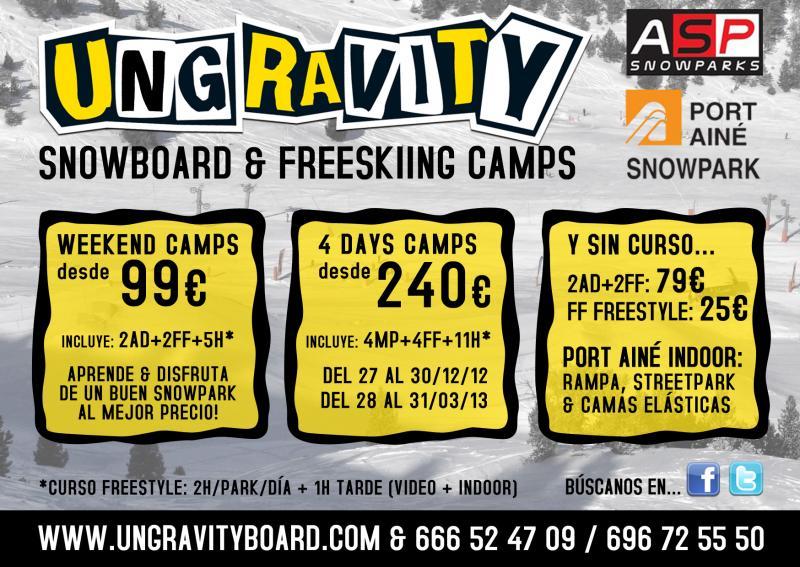 Los mejores camps de freestyle del Pirineo llegan a Port Ainé de la mano de Ungravity y ASP Snowparks.