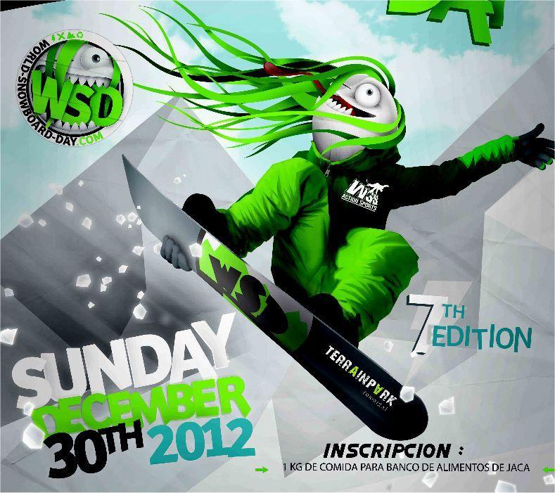 El WSD (World Snowboard Day) se celebra simultáneamente, el 30 de diciembre de 2012, en más de 22 países, y Formigal lo organiza por segunda vez a lo grande.