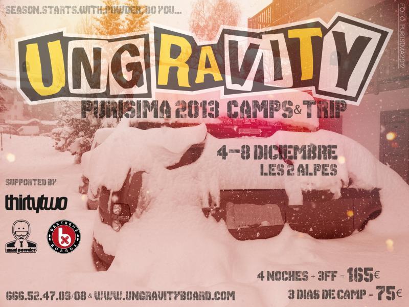 4a edición de los PURISIMA CAMPS & TRIP 2013 que organizan en LES 2 ALPES del 4 al 8 de diciembre.