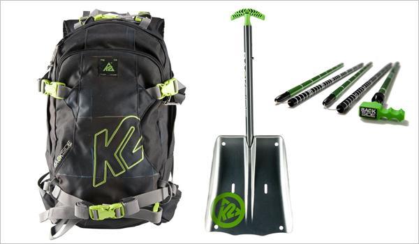 K2 presenta un interesante pack de mochila + pala + sonda diseñado especificamente para la práctica del freeride.